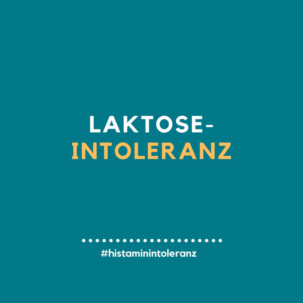 Laktose-Intoleranz in Zusammenhang mit der Histamin-Intoleranz